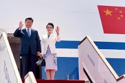[영상중국] 시진핑 부부, 타지크 두샨베 도착....상하이협력기구 회의 참석