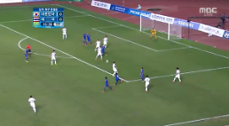 [인천 아시아게임] 한국, 태국에 2-0 앞선 채 전반전 종료…이종호·장현수 연속골