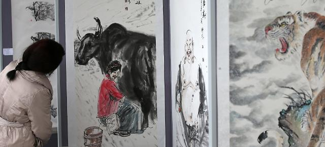 中国水墨名画展亮相韩国