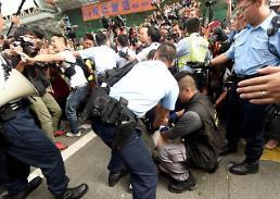 [영상중국] 홍콩 도심점거 시위 조슈아 웡 등 핵심지도부도 체포