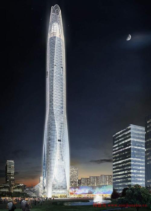 541米高的纽约世贸中心一号楼是去年建成的最高楼