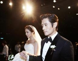 .Actress Lee Min-jung, wife of actor Lee Byung-hun, pregnant with 1st child.