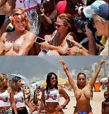 [유튜브] 브라질 여성들 반라 토플리스 촉구…남성들 당연히 찬성? 힐끔