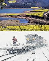 [영상중국] 봄이야, 겨울이야...중국 같은 날 다른 계절