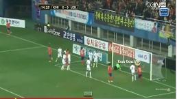[한국 우즈벡 축구 국가대표 평가전]1대1로 전반 종료,선제골은 한국이 성공