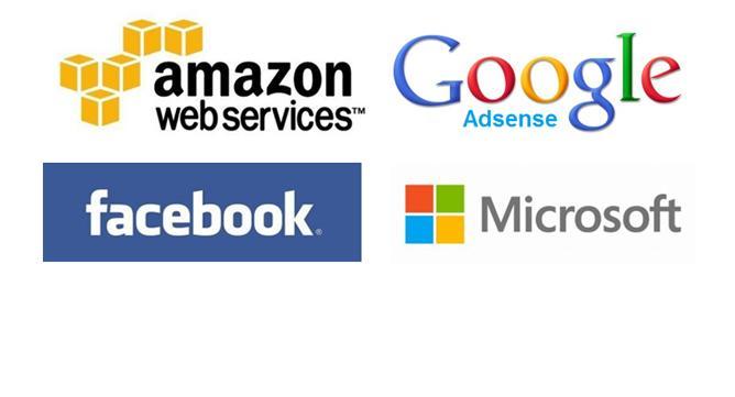 '광고'로 먹고 사는 구글과 페이스북, '클라우드'로 배부른 MS와 아마존