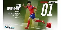 .Leverkusens Korean forward Son Heung-min Asias best footballer 2015: British magazine.