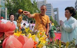 """.""""老外""""在韩体验佛教文化."""