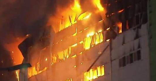 제일모직 김포 창고 불…의류 수백t 피해