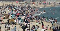 海云台提前迎来大批避暑游客