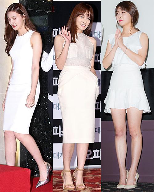 白色连衣裙的韩式搭配 唯美涨姿势