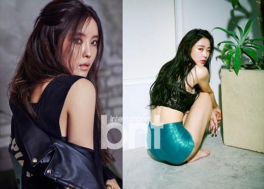 看韩国女星如何摆拍性感写真