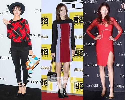 韩女星主打红色秋装 释放时尚感性魅力