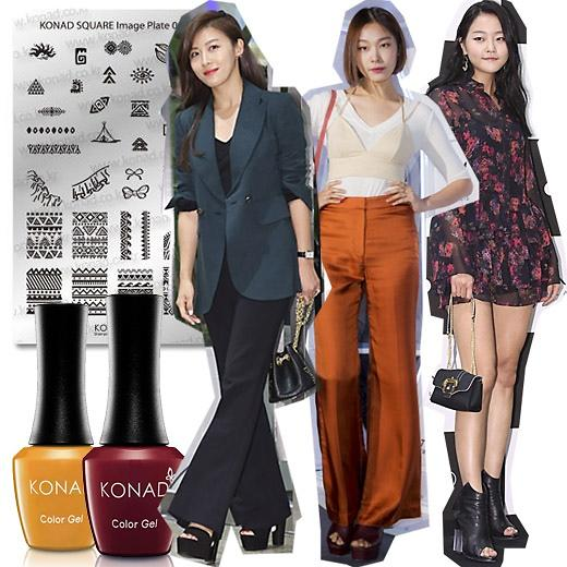 学韩星反季穿鞋时尚 迈开秋季时尚步伐