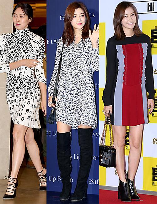 解读韩星巧搭秋装连衣裙的时尚密码