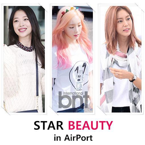 从机场时尚中细数韩流明星的美妆风格