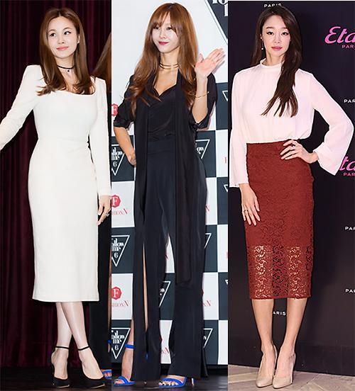 看幸福韩女星演绎秋装时尚
