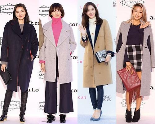 解读韩国超模与明星们的时尚女装大衣