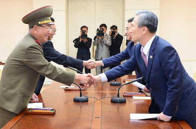 朝韩在今年8月25日进行高级别会谈.[韩国青瓦台提供]