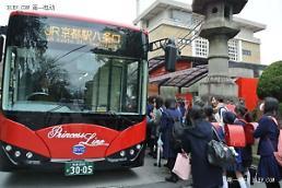 .比亚迪电动客车驶入韩国济州岛.
