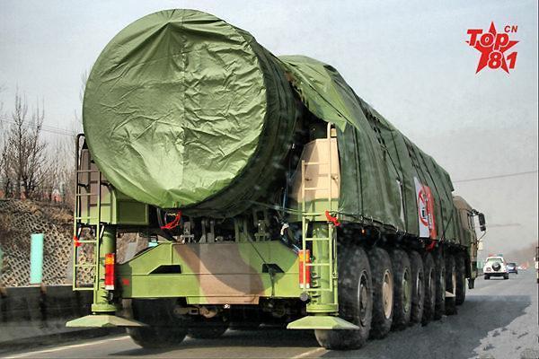 美媒称中国完成东风-41洲际弹道导弹第五次试射