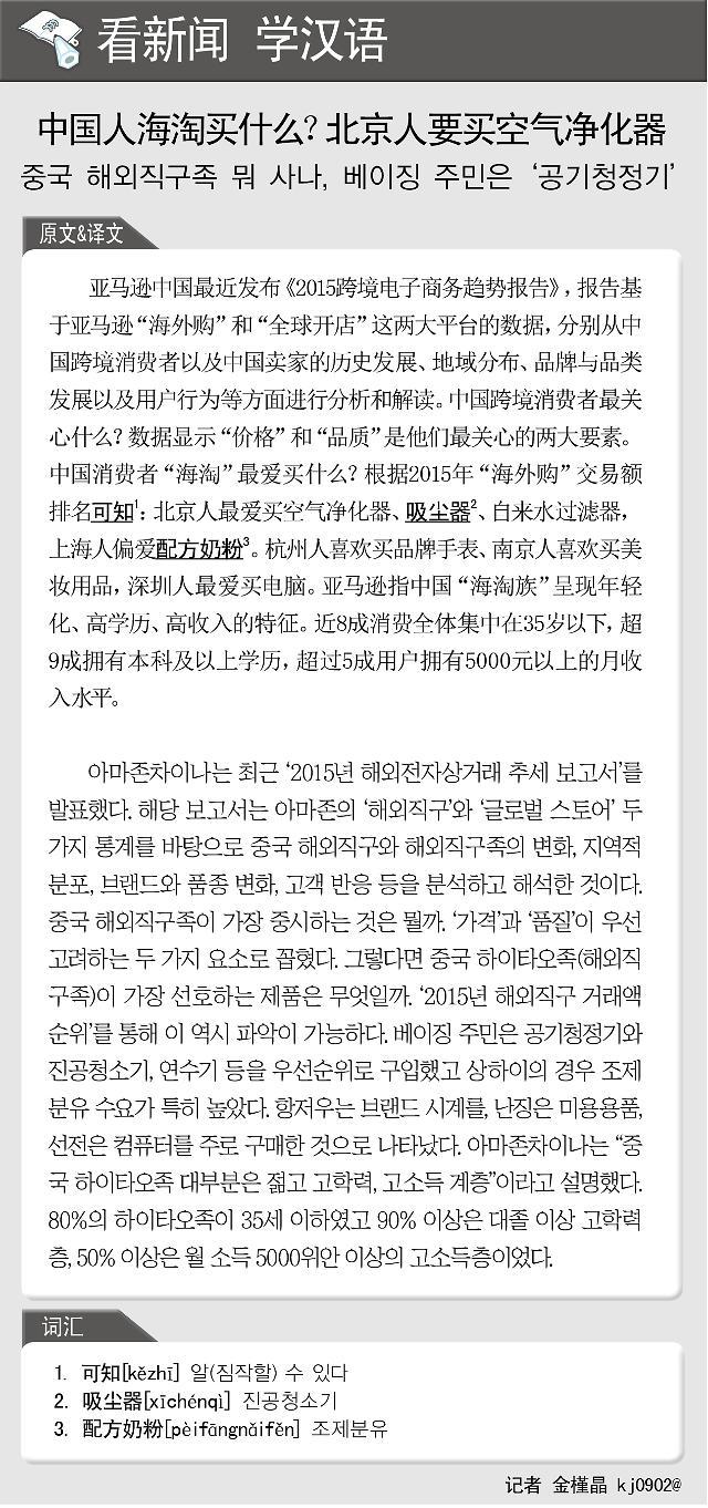 [看新闻学汉语] 中国人海淘买什么?北京人要买空气净化器