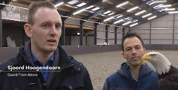 .Dutch Police trains eagles to hunt down drones.