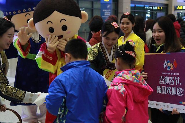 中国游客春节大举访韩 现场退税制度效果引期待