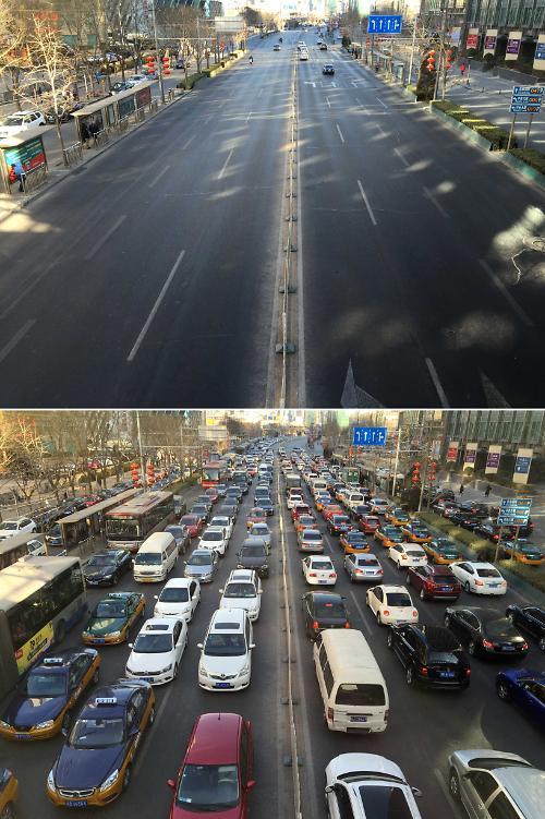 [영상중국] '텅텅' 빈 베이징 도심