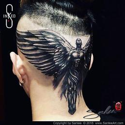.Jay Park's got a brand new guardian angel… on his head.