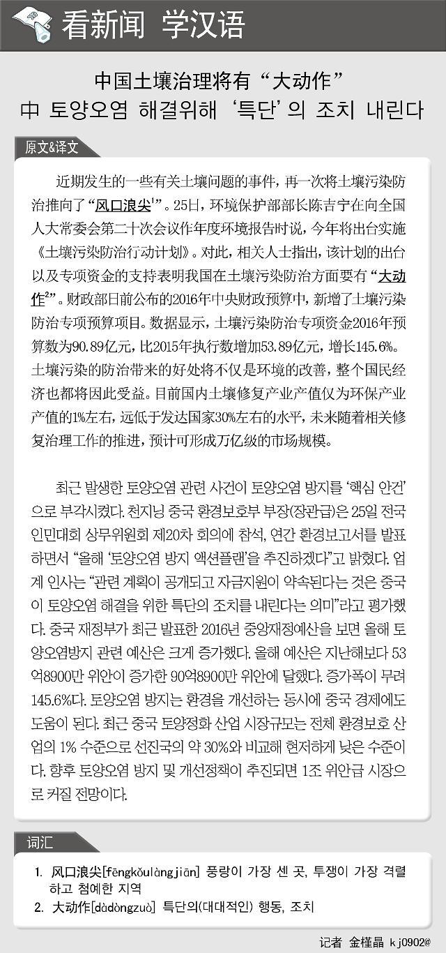 """[看新闻学汉语] 中国土壤治理将有""""大动作"""""""