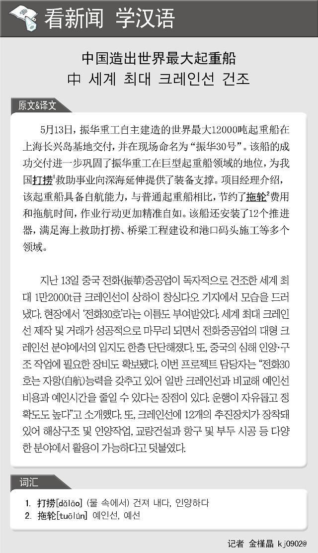 看新闻学汉语] 中国造出世界最大起重船