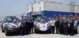 .Ssangyong begins shipping special Rextons for Peru police .