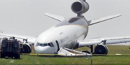 US cargo plane skids off runway, no casualties