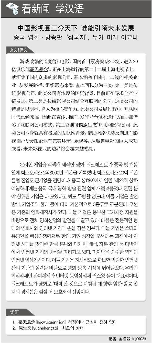 [看新闻学汉语] 中国影视圈三分天下 谁能引领未来发展