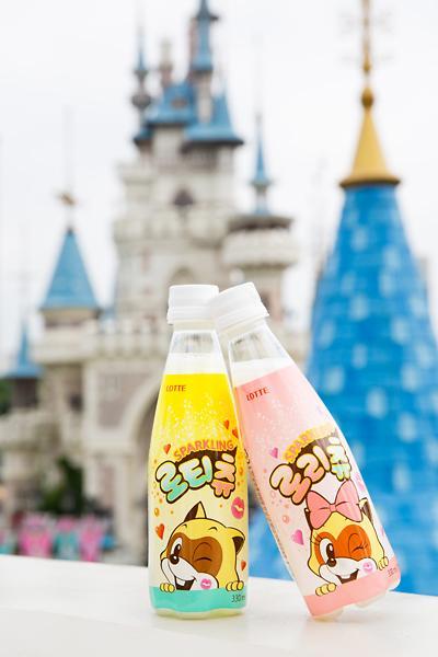 乐天世界吉祥物代言自家饮料 游乐场专卖饮品即将上市