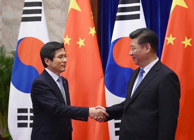 황 총리, 중국 동북3성 선양 도착