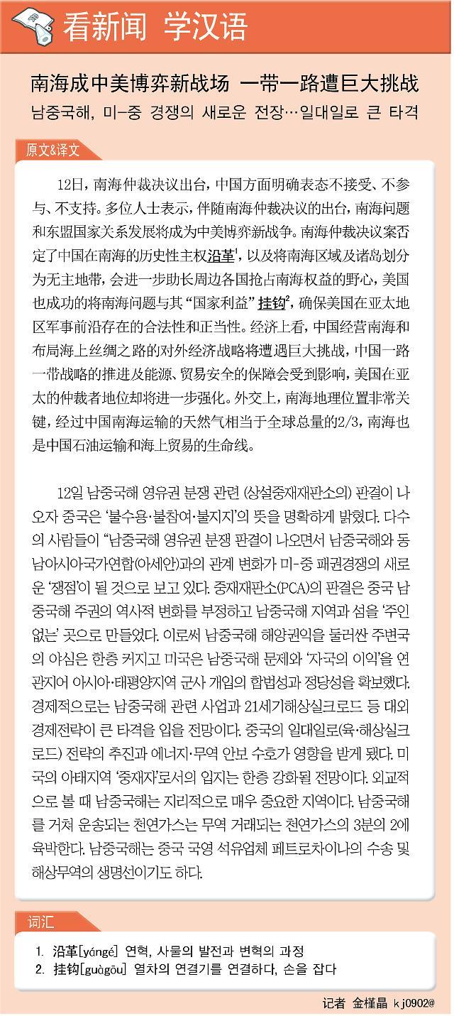 [看新闻学汉语] 南海成中美博弈新战场 一带一路遭巨大挑战