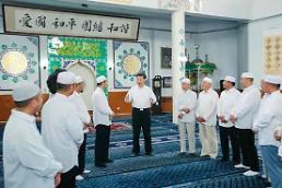 시진핑, 인촨의 사찰 '칭전스' 방문