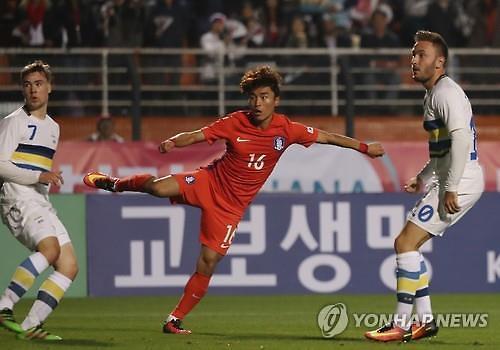 문창진 2골 한국, 스웨덴에 3-2 짜릿한 역전승