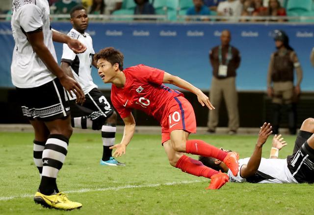 【里约奥运】韩国八比零大比分战胜斐济