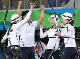(Oly) South Korea women win gold in archery team: Yonhap