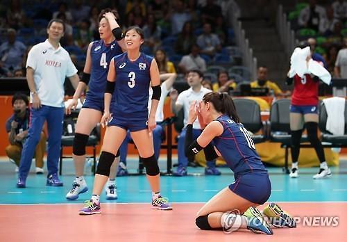 韩国女排小组赛不敌俄罗斯