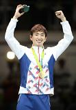 (Oly) Park Sang-young wins gold in epee fencing