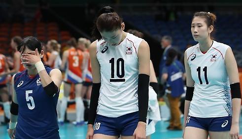 韩国奥运会集体球类项目44年首次无缘奖牌