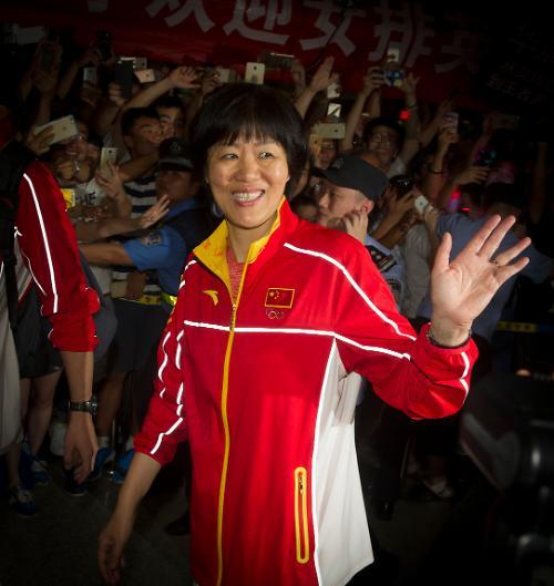 [영상중국] 천여명 인파 속 중국 여자배구팀 '금의환향'