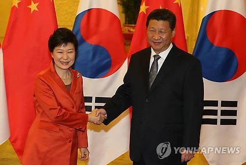 韩中首脑举行会谈 商讨萨德及朝核问题