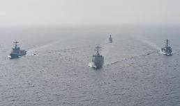.US and South Korea stage major joint sea exercise  .