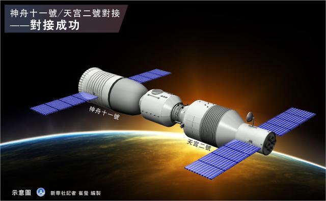 [영상중국] 중국 유인우주선 선저우 11호, 톈궁 2호와 도킹 성공
