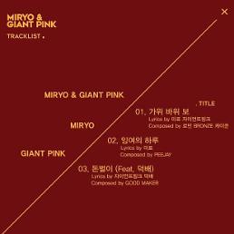 미료X자이언트핑크, 맥시 싱글 가위 바위 보 26일 0시 공개